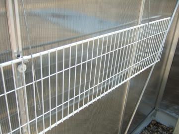 11 Inch Greenhouse Shelf Foldaway Speedshelf White