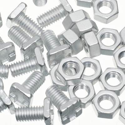 100 Cruciform Square Head Aluminium Bolts with Nuts for Greenhouses