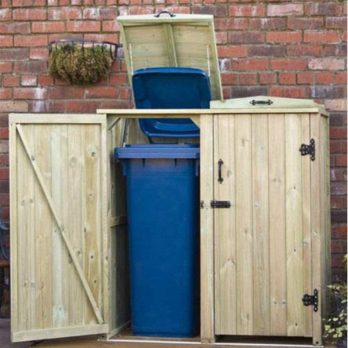 Double Wheelie Bin Chest Greenhouse Warehouse