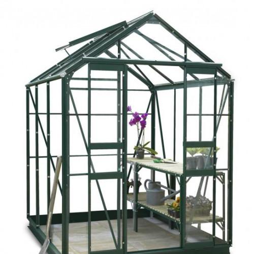 Stafford 5x8 Green Greenhouse Greenhouse Warehouse