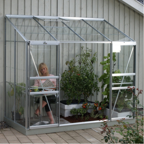 Vitavia Ida 3300 4ft X 8ft Lean To Greenhouse Greenhouse