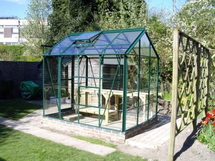Hercules Trafalgar 6x6 Green Greenhouse Greenhouse Warehouse